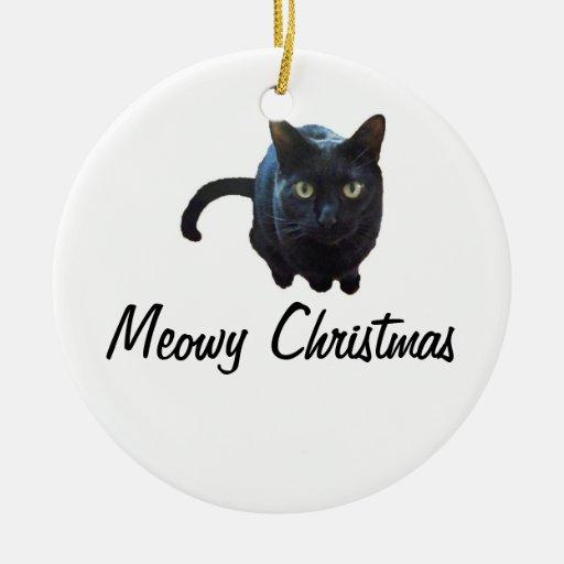 Ornamento del navidad de Meowy Ornato