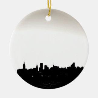 Ornamento del navidad de New York City Ornamento Para Arbol De Navidad