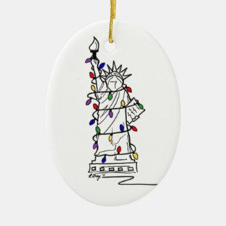 Ornamento del navidad de Nueva York - estatua de Ornamento De Reyes Magos