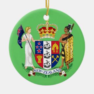 Ornamento del navidad de NUEVA ZELANDA Adorno Navideño Redondo De Cerámica