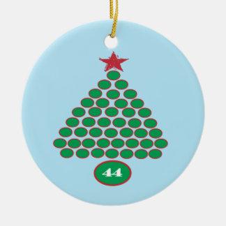 Ornamento del navidad de Obama 44 (azul) Adorno Navideño Redondo De Cerámica