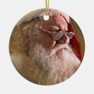 Ornamento del navidad de Papá Noel Adorno Navideño Redondo De Cerámica
