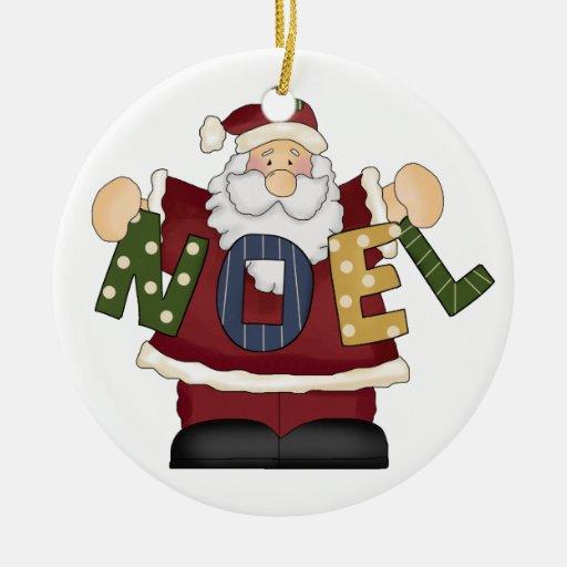Ornamento del navidad de Papá Noel Noel Ornamento De Reyes Magos
