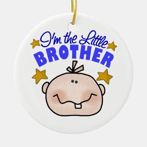 Ornamento del navidad de pequeño Brother Adorno Navideño Redondo De Cerámica