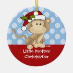 Ornamento del navidad de pequeño Brother del mono Adorno De Reyes