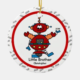 Ornamento del navidad de pequeño Brother del robot Adorno Navideño Redondo De Cerámica