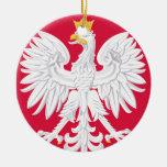 Ornamento del navidad de POLAND* Eagle Adorno Redondo De Cerámica