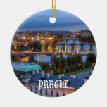 Ornamento del navidad de Praga Adorno Navideño Redondo De Cerámica