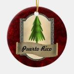 Ornamento del navidad de Puerto Rico Adorno Redondo De Cerámica