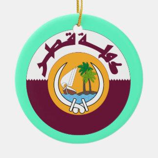 Ornamento del navidad de QATAR* Adorno Redondo De Cerámica