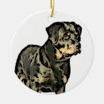 Ornamento del navidad de Rottweiler Ornamento Para Arbol De Navidad
