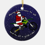 Ornamento del navidad de Santa de la bici de la su Ornamentos Para Reyes Magos