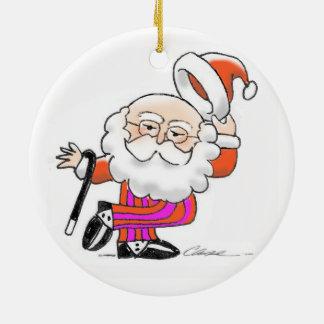 Ornamento del navidad de Santa del baile Adorno Navideño Redondo De Cerámica