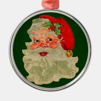 Ornamento del navidad de Santa del estilo del Adorno Redondo Plateado