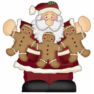 Ornamento del navidad de Santa del pan de jengibre Esculturas Fotograficas