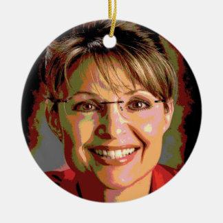 Ornamento del navidad de Sarah Palin 2016 Ornatos