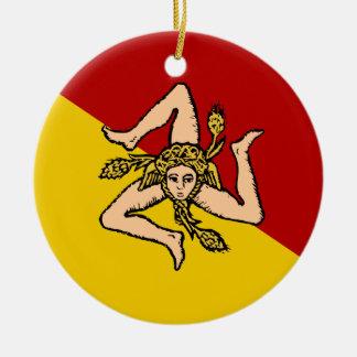 Ornamento del navidad de Sicily* Adorno Navideño Redondo De Cerámica