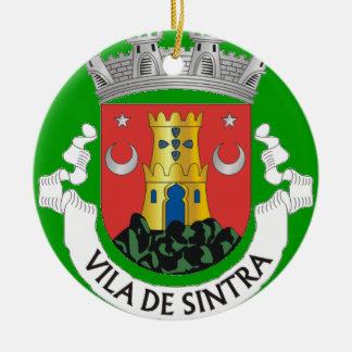 Ornamento del navidad de Sintra Portugal Adorno Navideño Redondo De Cerámica