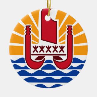 Ornamento del navidad de TAHITI* Adorno Navideño Redondo De Cerámica