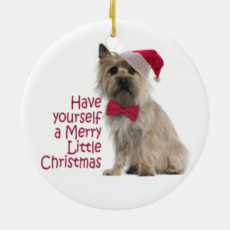 Ornamento del navidad de Terrier de mojón Ornamento De Navidad