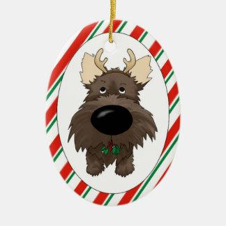 Ornamento del navidad de Terrier de mojón Adorno De Reyes