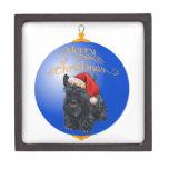 Ornamento del navidad de Terrier del escocés Cajas De Regalo De Calidad