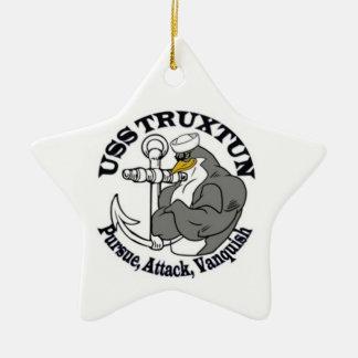 Ornamento del navidad de USS TRUXTUN Adorno De Cerámica En Forma De Estrella
