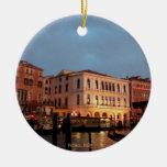 Ornamento del navidad de Venecia, Italia Ornamento Para Arbol De Navidad