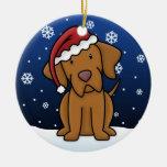 Ornamento del navidad de Vizsla del dibujo animado Ornamentos De Reyes