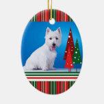 Ornamento del navidad de Westie Ornaments Para Arbol De Navidad