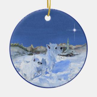 Ornamento del navidad de Westies Adornos De Navidad