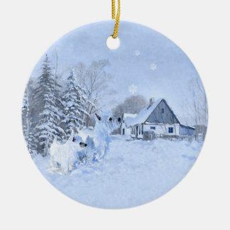 Ornamento del navidad de Westies Adorno De Reyes
