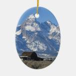 Ornamento del navidad de Wyoming Tetons Ornamentos De Reyes Magos