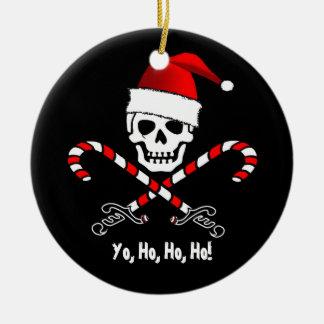 Ornamento del navidad de Yo Ho Ho Santa de la Ornaments Para Arbol De Navidad