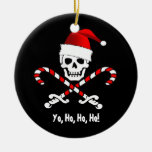 Ornamento del navidad de Yo Ho Santa de la bandera Ornaments Para Arbol De Navidad