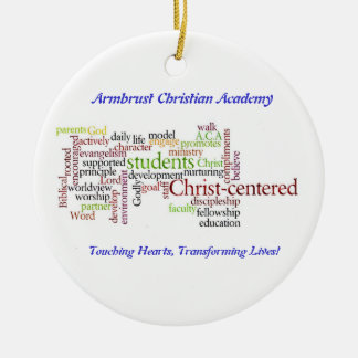 Ornamento del navidad del ACA Adorno Navideño Redondo De Cerámica