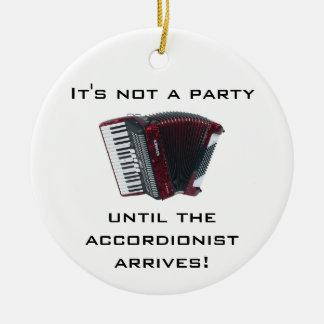 Ornamento del navidad del ACORDEÓN Adorno Navideño Redondo De Cerámica