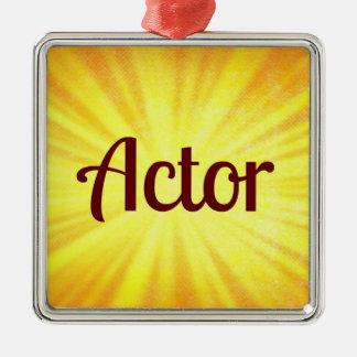 Ornamento del navidad del actor adornos