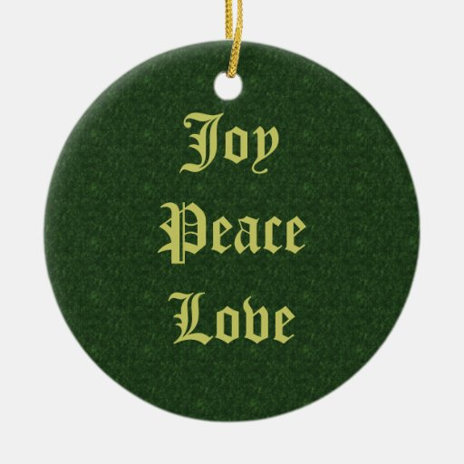 Ornamento del navidad del amor de la paz de la ornato