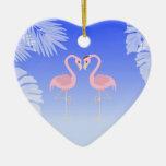 Ornamento del navidad del amor de la playa del fla ornamento para arbol de navidad