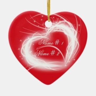 Ornamento del navidad del amor adorno de navidad