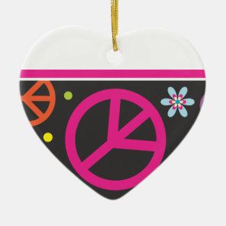 Ornamento del navidad del amor y de la paz ornamento de navidad