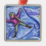 Ornamento del navidad del ángel de la nieve adorno de reyes