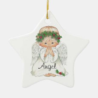 Ornamento del navidad del ángel ornamento de navidad