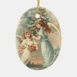 Ornamento del navidad del ángel del vintage ornamento para arbol de navidad