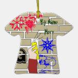 ornamento del navidad del arte de la pintada ornato