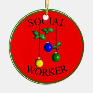 Ornamento del navidad del asistente social ornaments para arbol de navidad