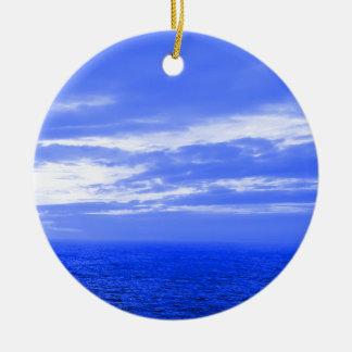 Ornamento del navidad del azul de cielo del océano ornamentos de reyes magos