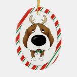Ornamento del navidad del beagle adorno para reyes