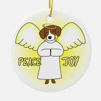 Ornamento del navidad del beagle del ángel de la ornamento de reyes magos